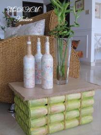 Falso Bambu de latinhas