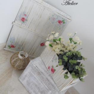 Rolinho de jornal e papelão