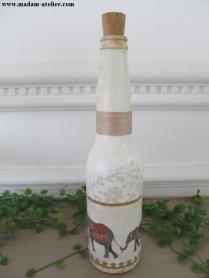 garrafas decoradas efefantes IV