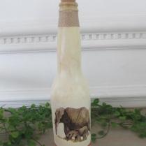 garrafas decoradas efefantes v