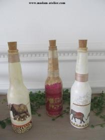 garrafas decoradas efefantes VII