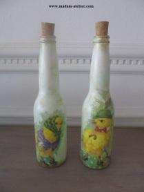garrafas decoradas V